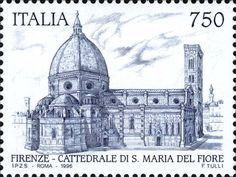 Francobollo emesso il 7 settembre 1996 750 L. - Cattedrale di santa Maria del Fiore, Firenze