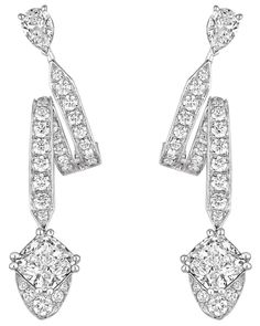 """""""Éclat Floral"""" #Earrings from """"Joséphine"""" #Chaumet - #FineJewellery collection in #Platinum and diamonds july 2015"""
