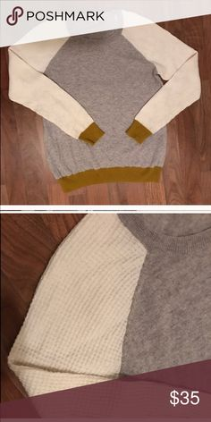 Madewell color block knit sweater EUC. M/L Madewell Sweaters Crew & Scoop Necks