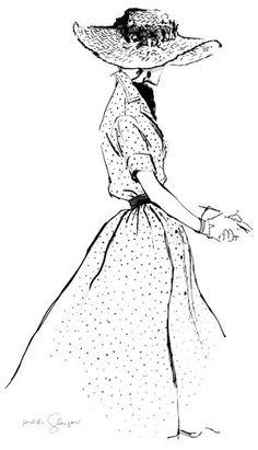 Ivy c. 1946 Fashion Illustration $75-295 vintage fashion