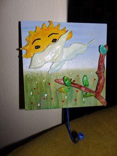 Κρεμαστρούλα με ζωγραφικη και πηλό