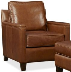 $1365, Alexander Berkshire Maple Leather Chair
