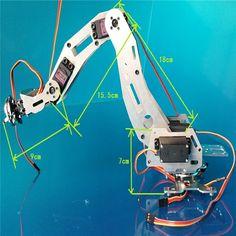 6 DOF robot arm six-axis Manipulators industrial robot model robot without controller Robotics Projects, Robotics Engineering, Arduino Projects, Diy House Projects, Cool Diy Projects, Project Ideas, Drones, Raspberry Pi, Industrial Robots