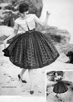 1950 Style Dresses For Mother Of The Bride unlike Newspaper Dress Fashion Show either Ethiopian Cultural Dress Fashion Show minus How Fashion Designers Dress Vintage Beauty, Vintage Glamour, Fashion 60s, Fashion History, Dress Fashion, Fashion Vintage, 1950s Fashion Women, Club Fashion, Travel Fashion