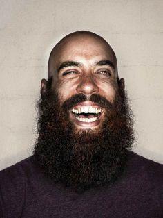 full thick epic dark beard puffy fluffy mustache beards bearded man men smile #niceteeth