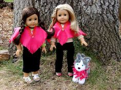 Kid Craft: American Girl Doll Felt Poncho and Pet Scarf | live.life.create.art