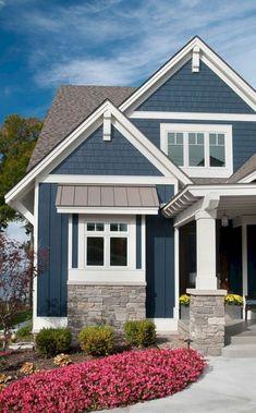 Navy Blue Exterior House Color #ExteriorDesignColor