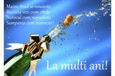 Felicitare Anul nou sampanie
