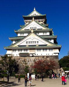 Osaka Castle Osaka Japan, Places To Travel, Places To Visit, Osaka Castle, Around The Worlds, Yoga, Mansions, House Styles, Japanese Pizza