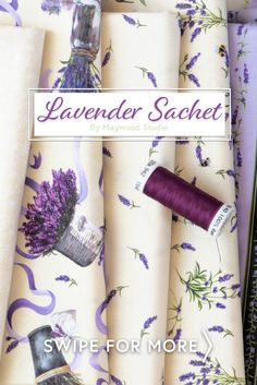 This collection includes a lovely color palette, bows, mason jars, and an assortment of lavender prints! Lavender Sachet will surely look elegant in your next quilt or sewing project! Shop the available precuts, yardage, and fat quarter sets at www.shabbyfabrics.com.