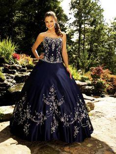 Ballkleid Ausgefallen Preiswert Stickereien Satin Quinceañera Kleid [#UD2130] - schoenebraut.com