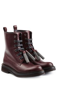 Leather Boots with Embellished Tassels detail 0