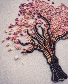 Abience (n.) the strong urge to avoid someone or something I've been procraftinating on this silk embroidered tree for about 4 years but have now promised myself that I will complete it and put it up on my Etsy store. In the next 4 weeks 🙊 Embroidery Art, Cross Stitch Embroidery, Creators Project, Japan Art, Embroidered Silk, Needle And Thread, Tribal Tattoos, Animal Print Rug, Etsy Store