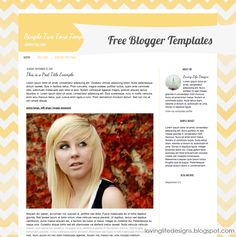 Free Blogger Template Designs - {Free Blog Template}