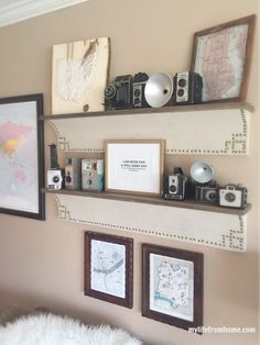 Vintage Camera Collection & Gallery Wall | My Life From Home | by www.mylifefromhome.com