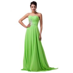 Long Chiffon Strapless Prom Dress with Sweep Train (Multi-Colored) & The real color of the item may be slightly different from the pictures shown on website Long Mermaid Dress, Mermaid Dresses, Formal Gowns, Strapless Dress Formal, Evening Dresses, Prom Dresses, Pink And Green, Special Occasion, Party Dress