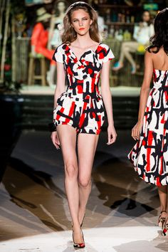 3 Looks: my #MFW picks from #Dsquared². Dean and Dan Caten surely looked to the Rat Pack past for this collection's inspiration. The defining piece was a shapely bathing suit/cocktail dress combo.
