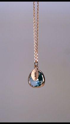 Stylish Jewelry, Cute Jewelry, Fashion Jewelry, Diy Fashion, Jewelry Gifts, Unique Jewelry, Aquamarine Pendant, Aquamarine Necklace, Blue Necklace