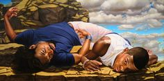 Santos Dumont - The Father of Aviation II | 2009 | Kehinde Wiley | oil on canvas