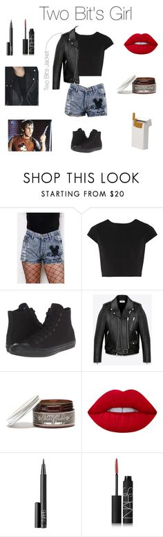 """Two Bit's Girl"" by bluejasmine360 ❤ liked on Polyvore featuring Alice + Olivia, Converse, Yves Saint Laurent, Apothecary 87, Lime Crime and NARS Cosmetics"