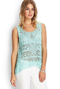 Crochet Lace Tank | FOREVER 21 - 2000059974