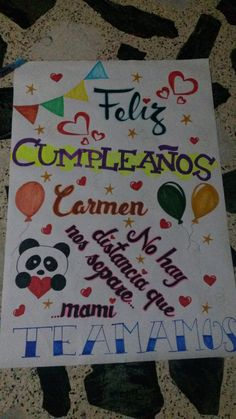 Pancarta de cumpleaños. Kids Rugs, Halloween, Diy, Ideas, Mental Map, Love Posters, Best Birthday Cards, Creative Cards, Gifts For My Boyfriend
