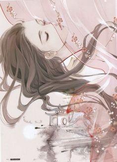 Oml such beautiful art Art Anime, Anime Art Girl, Manga Art, Anime Guys, Chinese Drawings, Chinese Art, Art Drawings, Fantasy Kunst, Fantasy Art