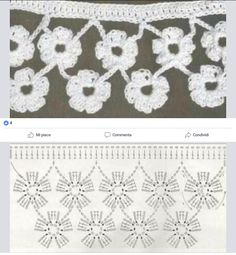 Crochet edging with corner – ArtofitThis Pin was discovered by Nur Crochet Edging Patterns, Crochet Borders, Crochet Diagram, Crochet Chart, Crochet Motif, Crochet Flowers, Crochet Lace, Crochet Stitches, Knitting Patterns