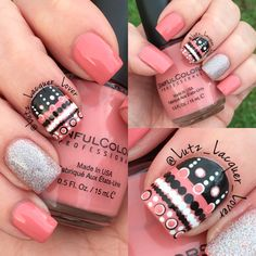@kayleehazacupcakee who was inspired by @nailsbysophiaa .  My version features #SinfulColors Soul Mate, #Revlon #HolographicPearls, and black & white acrylic craft paints. Of course it's all topped off with #HKGirl #GlistenandGlow ❤️. #kayleehazacupcakee #NBSinspired #diynails #nailart #nailartamateur #polishaddict #floridanailgirl #tampanailgirl #healthynails #naturalnails #summernails #summernailart