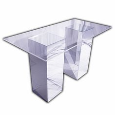 Perfect Reflection Bar Table (Mirror Bases With Clear Acrylic Top). 3u0027 X 6