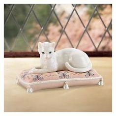Lenox Serena the Cat Sculpture    http://www.beso.com/cats-figurines/search?rf=gbs=156 Disney Cats, Cat Statue, Cat Feeding, Ceramic Figures, Pretty Cats, White Cats, Cat Love, Cool Cats, Cat Art