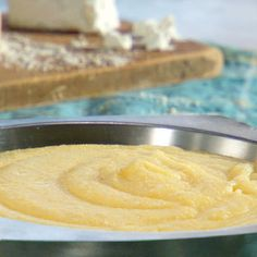 Creamy Polenta with Goat Cheese Recipe with salt, polenta, soft goat's cheese, grated parmesan cheese, unsalted butter