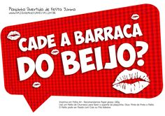 Plaquinha Divertida Festa Junina Barraca do Beijo