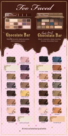 Too Faced Chocolate Bar and Semi-Sweet Chocolate Bar Eyeshadow Palettes