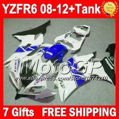 Купить товарСиний белый 7 подарки для YAMAHA YZFR6 YZF600 2008 2009 2010 2011 2012 новый синий черный P97161 YZF R6 YZF R6 08 09 10 11 12 обтекателя в категории Щитки и художественная формовкана AliExpress.                              Удостоверение личности aliexpress: MotoGP