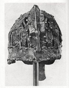 Helmet back view. Vendel culture, Sweden- predates Viking era.