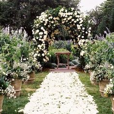 Inspiration for the most beautiful ceremony decor. Aisle Arches ideas and inspiration - floral, wooden, paper, glam or DIY.
