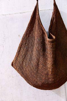 Crochet Sling Bags urbnite: Vintage Tibetan Sling Bag (Urban Outfitters-out of stock) - Crochet Shell Stitch, Bead Crochet, String Bag, Boho Bags, Basket Bag, Beautiful Handbags, Crochet Handbags, Purse Patterns, Cheap Bags