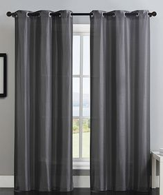 Loving this Charcoal Monroe Curtain Panel - Set of Two on #zulily! #zulilyfinds