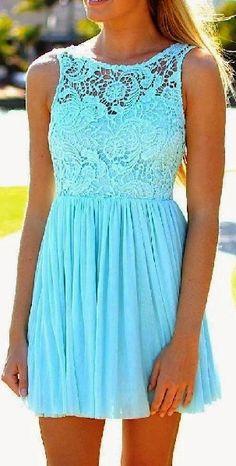 Blue floral design dress