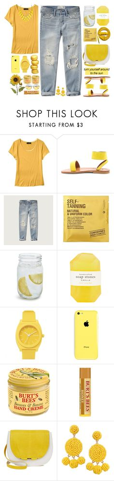 """// catching rays //"" by nosleeptilbrooklyn ❤ liked on Polyvore featuring Banana Republic, K. Jacques, Abercrombie & Fitch, Urbanears, Comodynes, Sur La Table, Pelle, Nixon, Burt's Bees and Humble Chic"