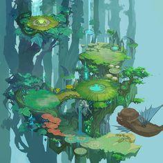 至少我还有梦采集到2.5D游戏场景设定参考(113图)_花瓣