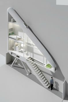 Designed by Jakub Szczesny of the architectural firm Centrala, Keret House will be the narrowest residence in Warsaw, Poland, according to Arch Daily. And, with the narrowest part of its interior measuring 72 centimeters, probably the skinniest dwelling in the world.