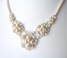 Image detail for -Pearl Necklace, Wedding Jewelry, Bridesmaid Jewelry, Bridal Necklace ...