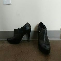 Nwot Bakers ankle booties Never been worn, black leather ankle booties approx. 4 inches high Bakers Shoes Ankle Boots & Booties