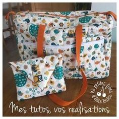 Tuto couture: My favorite diaper bag, the most sewn in history ;-) - Alice Balice - sewing and DIY creative hobbies - Changing bag Sewing Hacks, Sewing Tutorials, Sewing Patterns, Baby Couture, Couture Sewing, Sewing Online, Changing Bag, Bowling Bags, Free Sewing