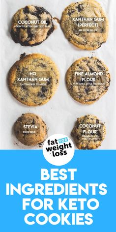 Can I substitute Any Ingredients In This Cookie Recipe? In the image below, I have showcased different ingredients to show you how using alternatives might affect the quality of the cookie. #ketocookies #ketodesserts Keto Cookies, Keto Chocolate Chip Cookies, Low Carb Sweets, Low Carb Desserts, Low Carb Recipes, Bread Recipes, Cooking Recipes, Keto Meatballs, Sugar Free Recipes