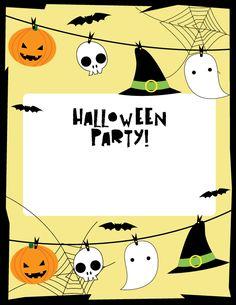 halloween invites template