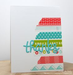 Die cut & washi tape (try with MB)