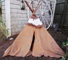 OK so a DIY tee pee for an indian american girl is perfect! i have an indian doll and i know she would love to feel at home in a nice snug tee pee i made her with my mom! American Indian Girl, American Indians, Doll Crafts, Diy Doll, Fancy Clothes, Doll Clothes, Doll Stuff, Kid Stuff, Grandchildren